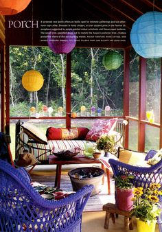 I <3 sleeping porches- spraypaint our furniture???? Might be fun!!