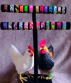 COLORFUL CHICKEN Leg Bands by MacsFlock on Etsy, $2.00
