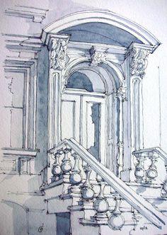 6th Ave Italianate Entrance