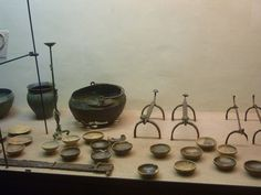 Grave goods from museum of Ancona, Italy