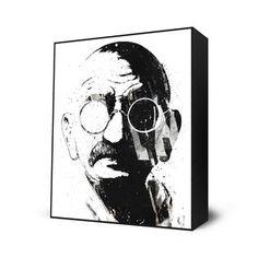 Eyes On Walls - Gandhi Mini Art Block, $28, now featured on Fab.
