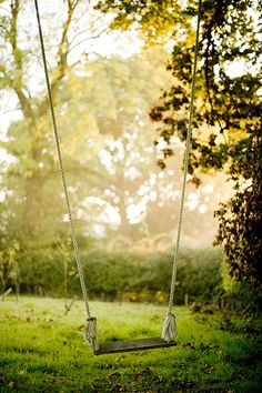 We had a swing like this in our backyard. I remember there was a picture taken of my Mom on that swing and my Aunt Cindy. It is quite a lovely memory. Country Life, Country Girls, Country Living, East Sussex, Exterior Lighting, Photo Location, Green Gables, Porch Swing, Farm Life