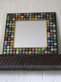 Beer Bottle Cap MirrorBeer/Bottle Caps/Mirror by EsobDesigns, $80.00
