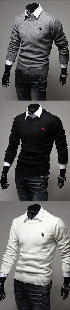 Men's Casual/Daily Simple Regular Pullover