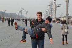 Paul P. '16 and Alex D. '16 in the Beijing Olympic Village.