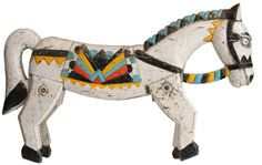 Antique Wooden Painted Horse