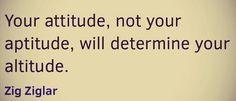 Attitude not aptitude your path to success