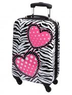 Zebra Heart Hard Shell Suitcase