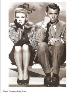 Ginger Rogers and Cary Grant! Love this Picture!