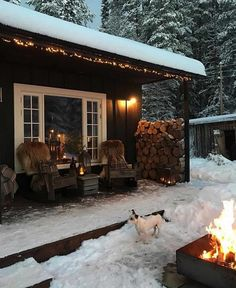 6 Best Outdoor Christmas Lights You Will Love it - Winter Porch, Winter Cabin, Cozy Cabin, Cabin Porches, Lake Cabins, Backyard, Patio, Outdoor Christmas, Merry Christmas