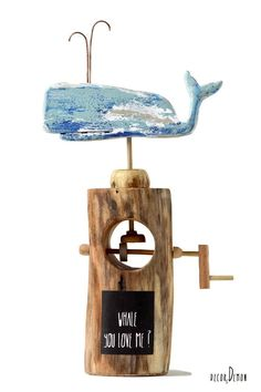 Whale Decor, Wooden Pattern, Nautical Gifts, Unique Woodworking, Wal, Driftwood Art, Coastal Decor, Wooden Toys, Special Gifts
