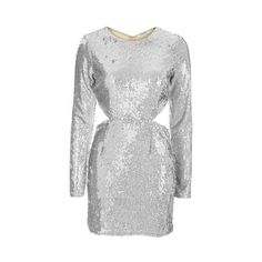Silver Sequin Dress by Glamorous (£22) ❤ liked on Polyvore featuring dresses, silver, glamorous cocktail dresses, sequin bodycon dress, sequin embellished dress, sequin cocktail dresses and silver cocktail dress