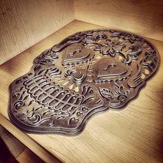 Metal Sugar Skull cut with a PlasmaCAM machine! Cnc Plasma, Plasma Cutting, Custom Metal Art, Scrap Metal Art, Sugar Skull, Welding, Sweet, Instagram Posts, Projects