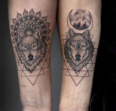 Best Wolf Tattoo Ideas - Wolf Tattoo Design Ideas With Meaning - Wolf T . - Best Wolf Tattoo Ideas – Wolf Tattoo Design Ideas With Meaning – Wolf Tattoo Top Tattoos, Couple Tattoos, Trendy Tattoos, Body Art Tattoos, Ring Tattoos, Tattoo Crown, Cross Tattoos, Sleeve Tattoos, Wolf Tattoo Design