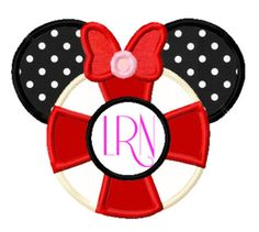 Girl Mouse Life Perserver Applique Machine by AppliquesByMe