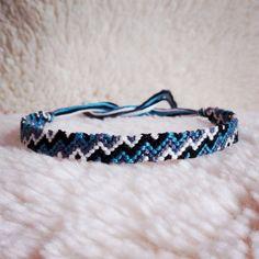 Friendship Bracelet - READY TO SHIP: Braided Handmade Embroidery Floss Fiber Friendship Bracelet - Super Zig Zag. $7.00, via Etsy.