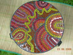 Mosaic table by Nikkinella, via Flickr