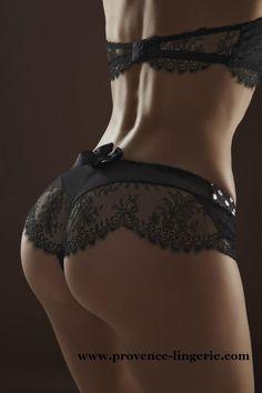 """#lingerie Shorty """"rêve de soie"""" en pure dentelle de calais"""