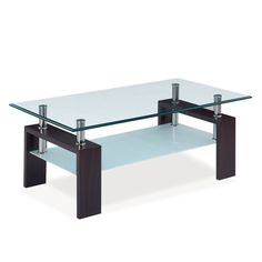 Find Global Furniture USA Glass-Top Coffee Table w/ Chrome Tubes online. Shop the latest collection of Global Furniture USA Glass-Top Coffee Table w/ Chrome Tubes from the popular stores - all in one Square Glass Coffee Table, Walnut Coffee Table, Cool Coffee Tables, Decorating Coffee Tables, Modern Coffee Tables, Glass Table, Cheap Furniture, Furniture Usa, Glass Furniture