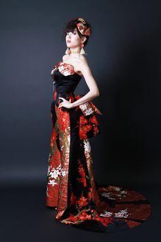 Aliansa Modern Wedding Kimono Dress
