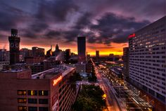 Sunrise over Baltimore by Rob Loughrey