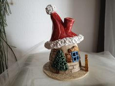 Homemade ceramics by hand with heart! Every ceramics is unique! Polymer Clay Christmas, Clay Houses, Concrete Crafts, Christmas Fairy, Air Dry Clay, Ceramic Clay, Clay Crafts, Clay Art, Art Blog