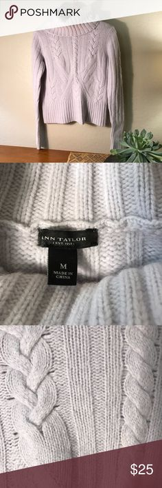 (Ann Taylor Sweater) Super high quality sweater! A really pretty light lavender color. So so soft! Only worn a handful of times, in good condition. Ann Taylor Sweaters Cowl & Turtlenecks