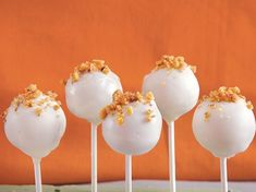 Carrot mixed with Betty Crocker® SuperMoist® carrot cake mix and frosting makes tasty dessert pops.