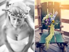 DIY Bohemian Rainbow Wedding: Jenn + Matt