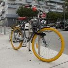 Sidewalk at Miami Beach #itsmiami #bike #yellow #miamibeach