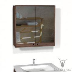 Good Eichenfrau Spiegelschrank x cm HxT form in Massivholz Nu baum