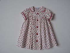 pluie de cerises robe en piqué de coton