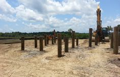 Franki piles pressure injected footings pifs for Wood piling foundation cost