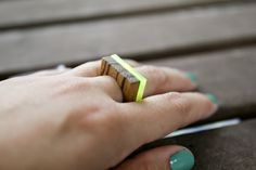 Image of Acrylic Simple Bar Ring