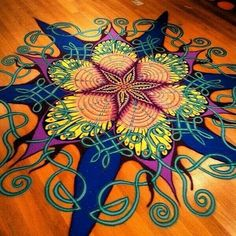 Floor painting design
