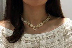 Tatting lace necklace / bracelet