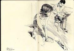 Welcome to the Halltoons Weblog: Tuesday Night Moleskine Sketch