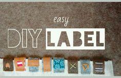 Werte dein Lieblingsteil mit einem selbstgemachtem Label auf. Filz Labels selber machen als Alternative zu bedruckten Etiketten oder Labels aus SnapPap.