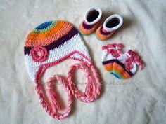 Conjunto de Crochê Colorful artelinharj@gmail.com 62 98146.4188