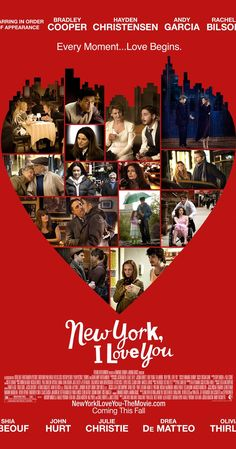Directed by Fatih Akin, Yvan Attal, Randall Balsmeyer.  With Shia LaBeouf, Natalie Portman, Bradley Cooper, Hayden Christensen. Several love stories set in one of the most loved cities of the world, New York.