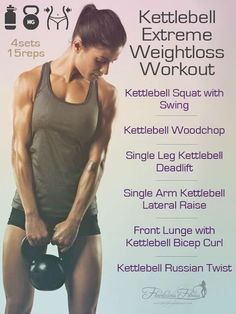 Weight Loss This kettlebell workout for women is perfect for slim down and toning up! - Kettlebell Extreme Weight Loss Workout Kettlebell Squat with Kettlebell Training, Circuit Kettlebell, Kettlebell Workouts For Women, Kettlebell Deadlift, Fitness Workouts, Training Fitness, Weight Training, Strength Training, At Home Workouts
