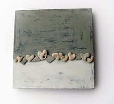Stones Art Wall Hanging Pebble Art Nature by MedBeachStones