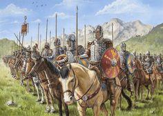 Formación de caballería Bizantina, obra de Luke Forwoodson. http://www.elgrancapitan.org/foro/viewtopic.php?f=87&t=16834&p=908548#p908548