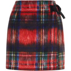 Almost Famous Tartan wrap skirt (€75) ❤ liked on Polyvore featuring skirts, bottoms, red, plaid pencil skirt, plaid wrap skirt, wrap skirt, red wrap skirt and red pencil skirt