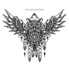"""the Awl"" #twinmonkeytattoo #tattoo #flash #handmade #original #tattoos #sketch…"
