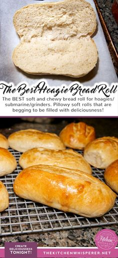 The BEST soft & chewy hoagie roll - - The BEST soft and chewy bread roll for hoagies/submarine/grinders. Pillowy soft rolls that are begging to be filled with deliciousness! rolls, bread r. Sandwich Roll Recipe, Roast Beef Sandwich, Homemade Sandwich, Sandwich Bread Recipes, Bread Machine Recipes, Deli Roll Recipe, Homemade Breads, Hoagie Roll Recipe Bread Machine, Bagel Pizza