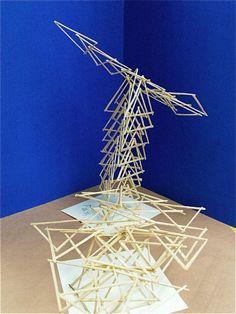 Statues as art. Modern Sculpture, Abstract Sculpture, Sculpture Art, Sculpture Projects, Art Projects, Toothpick Sculpture, Toothpick Crafts, Craft Stick Crafts, Craft Sticks