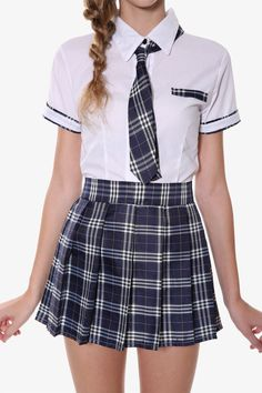 Japanese School Girl Costume This item is shipped in 48 hours, included the weekends. This seifuku japanese school uniform set is perfect for the student inspired by retro culture. The white shirt of this set features an adorable - School Uniform Outfits, Cute School Uniforms, School Girl Outfit, Girls Uniforms, Girl Outfits, Cute Outfits, Fashion Outfits, Private School Uniforms, Japanese School Uniform