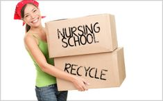 Spring cleaning for nurses: What NOT to keep from nursing school! #Nurses #Recycle #Cleaning