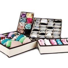 24 Cell Pink Organizer Box Underwear Ties Bra Socks Closet Divider Box  Storage | EBay | Home   Products | Pinterest | Drawers